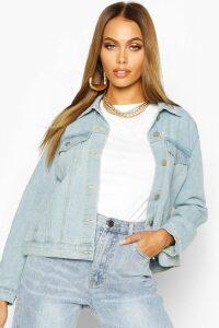 Womens Western Denim Jacket - Blue - 10, Blue