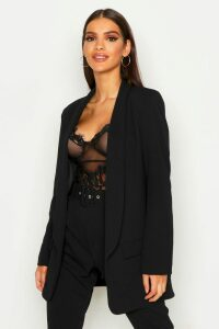 Womens Tailored Blazer - Black - 16, Black