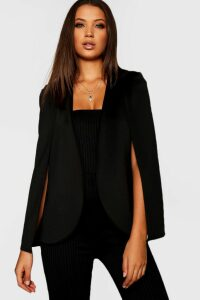 Womens Tall Cape Blazer - Black - 10, Black