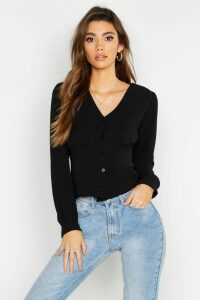 Womens Woven Waist Detail Blouse - Black - 12, Black