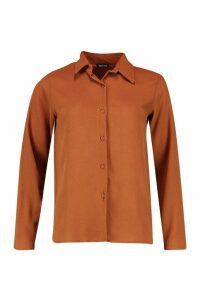 Womens Woven Shirt - Beige - 10, Beige