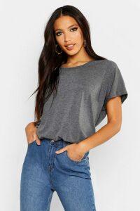 Womens Basic Oversized T-Shirt - Grey - 8, Grey