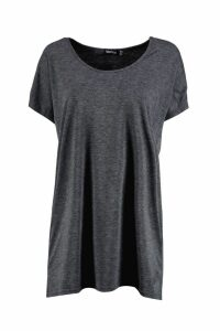 Womens Basic Oversized T-Shirt - Grey - 10, Grey