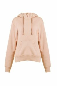 Womens Basic Solid Oversized Hoody - beige - L/XL, Beige