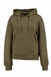 Womens Basic Solid Oversized Hoody - Green - M/L, Green