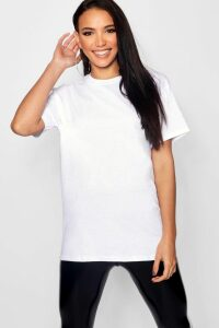 Womens Basic Oversized Boyfriend T-Shirt - White - S, White