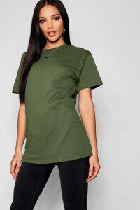 Womens Basic Oversized Boyfriend T-Shirt - Green - Xl, Green