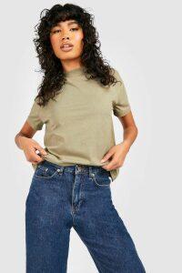 Womens Basic Oversized Boyfriend T-Shirt - Green - S, Green