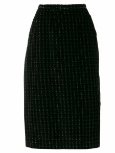 Giorgio Armani Pre-Owned '1980s patterned pencil skirt - Black