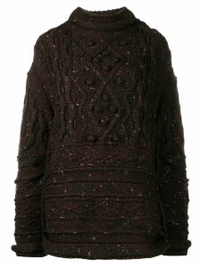 Jean Paul Gaultier Pre-Owned '1990s cable knit sweater - Brown