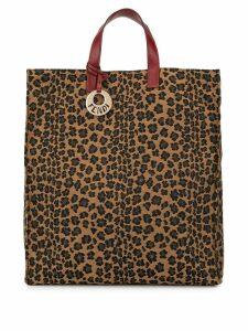 Fendi Pre-Owned leopard jacquard tote - Brown