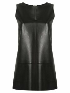 Hermès Pre-Owned A-line leather blouse - Black