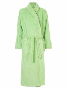 Hermès Pre-Owned embroidered logo bathrobe - Green