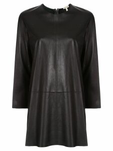 Hermès Pre-Owned elongated leather longsleeved blouse - Black