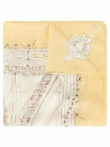 Hermès Pre-Owned musical note scarf - Yellow