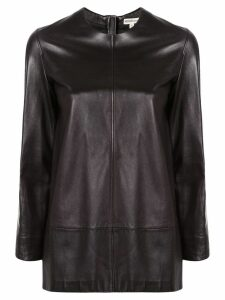 Hermès Pre-Owned straight leather blouse - Black