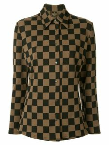 Fendi Pre-Owned checked slim shirt - Brown