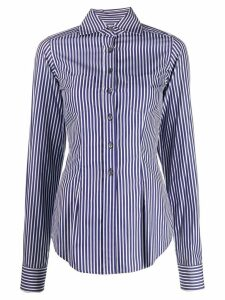 Romeo Gigli Pre-Owned 1997 striped slim shirt - Blue