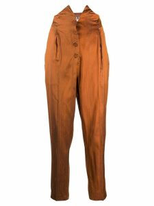Romeo Gigli Pre-Owned 1990's high rise tapered trousers - ORANGE