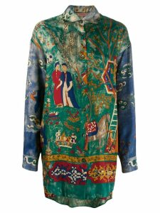 Romeo Gigli Pre-Owned 1990's painting print oversized shirt - Green