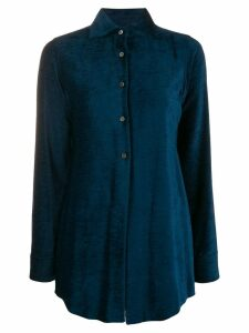 Romeo Gigli Pre-Owned 1990's ribbed slim shirt - Blue