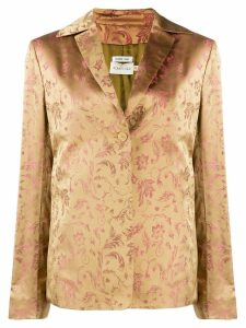 Romeo Gigli Pre-Owned 2000's floral jacquard jacket - NEUTRALS