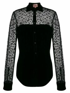 Romeo Gigli Pre-Owned 1997 sheer velvet blouse - Black