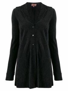 Romeo Gigli Pre-Owned 1997 textured slim jacket - Black