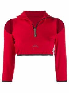 A-Cold-Wall* slit shoulder crop top - Red