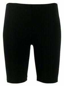 Paco Rabanne logo cycling shorts - Black