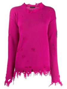 Etro distressed knit jumper - PINK