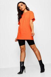 Womens Basic Oversized Boyfriend T-shirt - Orange - M, Orange