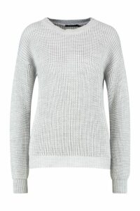 Womens Oversized Jumper - grey - XL, Grey