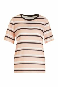 Womens Stripe T-Shirt - Pink - M, Pink