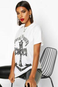 Womens Guns N Roses Oversized Licensed T-Shirt - White - Xl, White