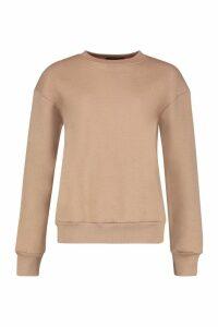 Womens Oversized Sweatshirt - Beige - 14, Beige