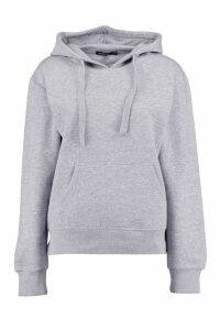Womens Basic Solid Oversized Hoody - grey - S/M, Grey