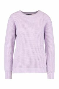 Womens Petite Ivy Oversized Jumper - purple - 14, Purple