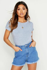 Womens Basic Cap Sleeve T-Shirt - Grey - M, Grey