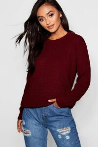 Womens Petite Ivy Oversized Jumper - red - 14, Red