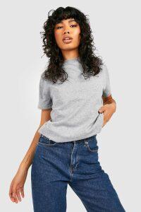 Womens Basic Oversized Boyfriend T-shirt - grey - M, Grey