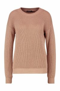Womens Oversized Jumper - beige - S, Beige