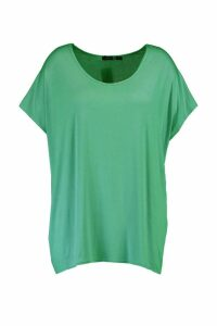 Womens Plus Oversized T-Shirt - Green - 20, Green