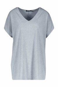 Womens Tall V-Neck Basic T-Shirt - Grey - 12, Grey