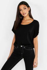 Womens Tall Scoop Neck Basic T-Shirt - black - 8, Black