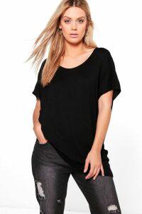 Womens Plus Oversized T-Shirt - Black - 18, Black