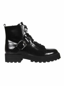 Tods Buckle Detail Laced-up Boots