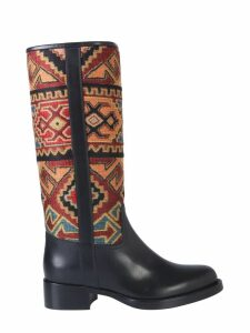 Etro Boot With Jacquard Detail