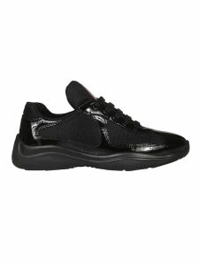 Prada Glossy Detail Laced-up Sneakers