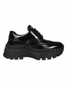 Prada Perforated Platform Sneakers